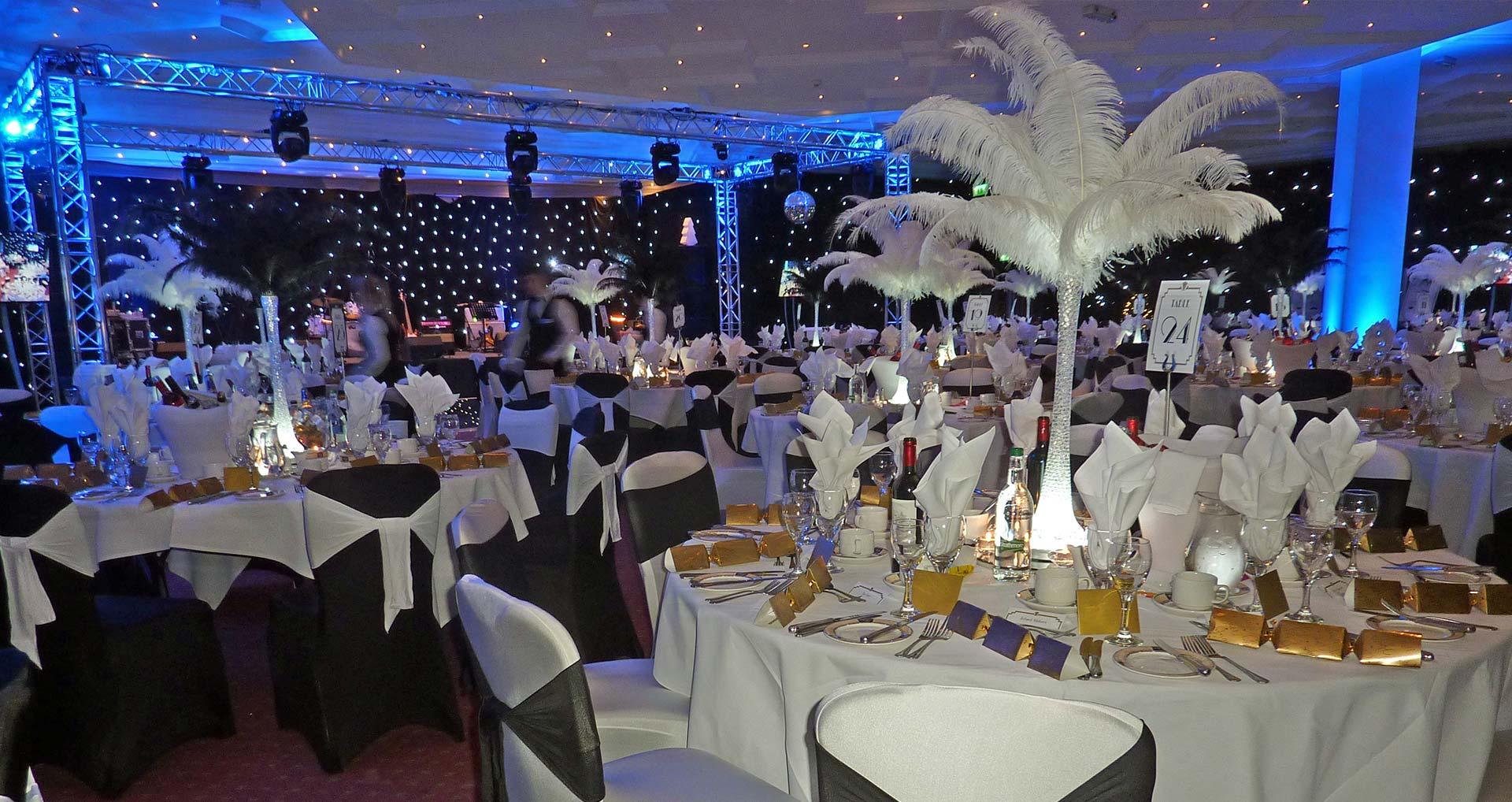 Hire our high quality centrepieces to light up your event