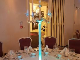 crystal candleabra turquoise