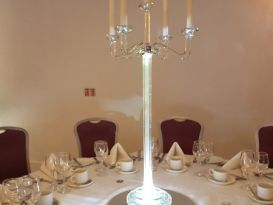 crystal candleabra white